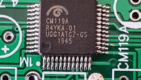CM119A soldered